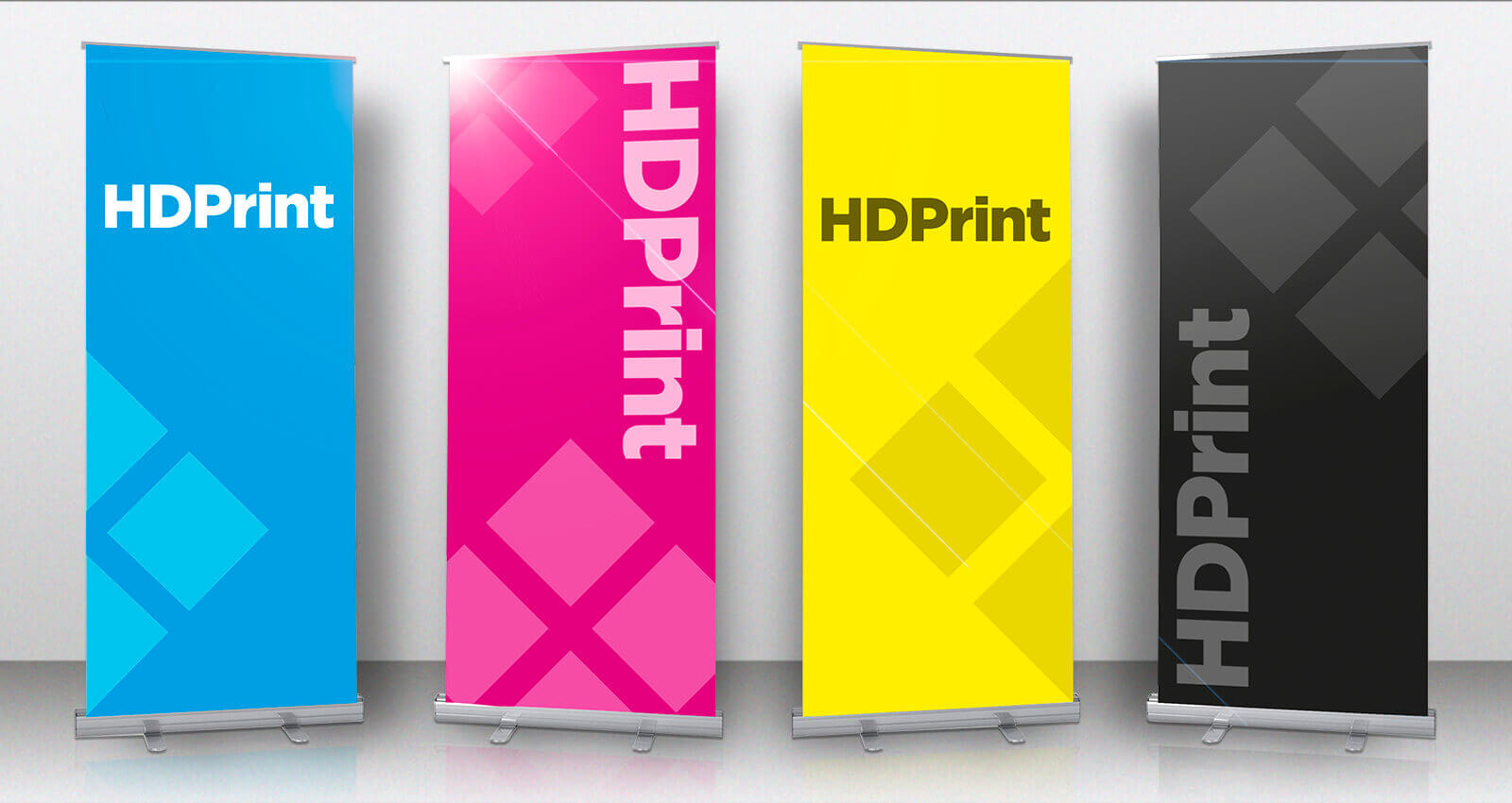 Exhibition and event roller banners
